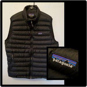 Patagonia Black Lightweight Down Sweater Vest XL